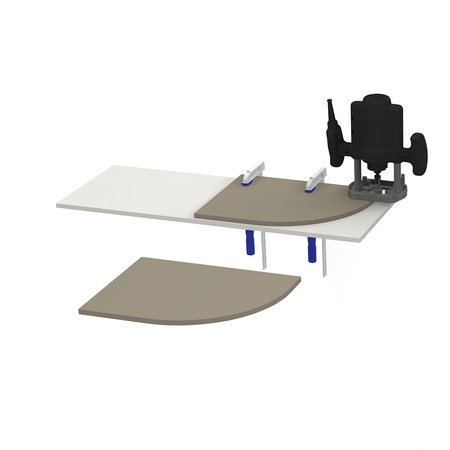 Worktop Jig - Curved Base End - Accessories