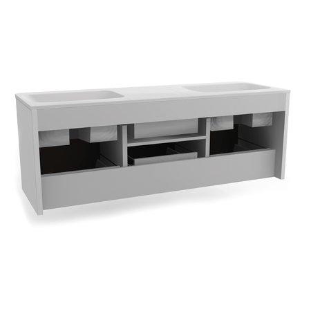 Baressa 1400 Wall Hung Vanity Unit c/w Marano Glass Basin - Baressa